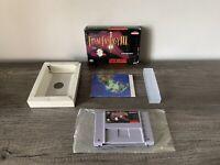 Final Fantasy III 3 SNES Super Nintendo Game Cartridge With Original Box And Map