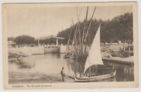 Egypt postcard - Ismailia, The Flood-Gate Downwards (A24)
