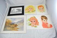 Lot of 6 Fine Art Prints Children Landscape & French Quarter New Orleans BB1B5