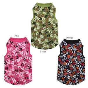Boneheads Skull Tank Top T-Shirt XXS-XL Pet Tee Black Pink Green Casual Canine