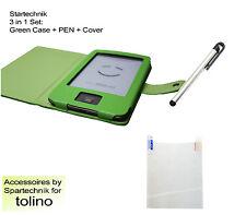 Tasche Stift & Folie f Tolino Shine Sparset: Case Pen & Displayfolie grün green