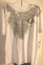 T- Shirt Graphic White Star Scoop Neck  Size XXL