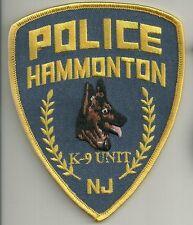 K-9  DHF  NEW JERSEY HAMMONTON  Police Patch Polizei Abzeichen Hundeführer