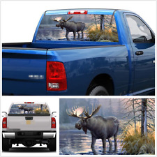 Car Truck Pickup Rear Windscreen Decal Graphics Forest Animals Moose 22'' x 65''