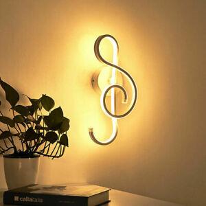 Modern 22W Music Notes Shape Wall Sconce Lamp Bedroom Bedside Foyer Indoor Light