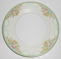 Meito China Porcelain Japan Floral Gold Green Yellow Salad Plate
