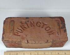 Princeton Illinois PURINGTON PAVER Road Street BRICK History Rare Antique REAL