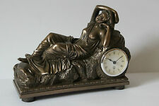 edle figürliche Tischuhr Kaminuhr im Jugendstil  liegende Dame  330.009BZ