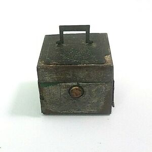 Brevette S.G.D.G??? Leather Metal Traveling Inkwell Box Vintage with Ink Bottle