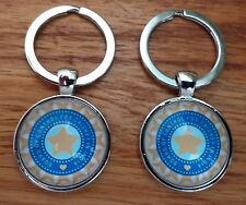 India Cricket Crest Design Cloisonné Keyring,25mmDia.,Nice Gift @ Only £4.50p