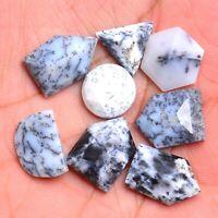 flat back cabochon dendrite opal gemstone cabochon supply #5628 44x19x5 mm Dendritic opal Loose