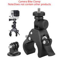 Mango Negro Bici Bicicleta Manillar Abrazadera De Barra de montaje de cámara adaptador de trípode cdsh 4