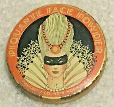 Vintage Art Deco Colgate Piquante Face Powder Sample Tin Container, 1920's