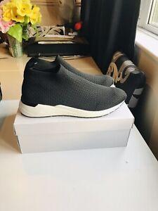 Kurt Geiger Klay Mens Sneakers Black Fabric Size 9 / 43