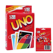 New Sealed UNO card Game Set with WILD CARDS Latest version Great Family Fun UK