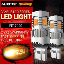2x Amber Yellow 7440 LED Turn Signal Parking Light Bulbs No Hyper Flash Canbus
