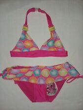 2 B Real Pink Dot Bikini Swim Set Girls Sz 4 NWT 2 piece Ruffle Special Edition