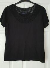 Black beaded top, M