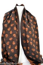 ALEXANDER McQUEEN UPSIDE DOWN DOUBLE SIDED SKULL MUFFLER WOOL SCARF BNWT