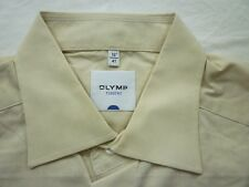 E7914 Olymp Tendenz Businesshemd Kombimanschette 41 hellbeige meliert Unifarben