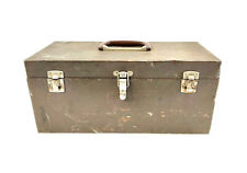 Vintage Kennedy Kits BROWN Metal Tool Fishing Storage Box CS-16 FAST SHIPPING