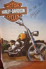 Harley Davidson Canvas Large HD Poster Print Softail Signed By Bill Davidson X6