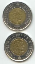 Canada 2005 2011 Toonie Canadian $2 Dollars Twoonie Toony Two Dollar EXACT COINS