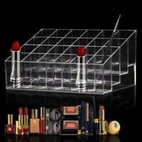24 Makeup Cosmetic Clear Lipstick Storage Display Stand Rack Holder Organizer FI