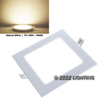 Natural White 12W Square LED Recessed Ceiling Panel Down Light Bulb Lamp Fixture