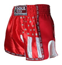 Premium Retro Muay Thai Shorts for women & men Red By World Mma Gear Handmade