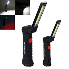 Magnetic LED COB Inspection Lamp Work Flashlight Light Rechargeable USB Torch H