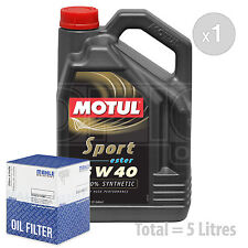 Engine Oil and Filter Service Kit 5 LITRES Motul Sport 5W-40 Engine Oil 5L