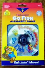 School Zone Flash Action Software CD Rom Go Fish Alphabet Game  New