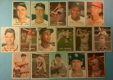 1957 Topps vintage old baseball cards 16-card All-Star Lot *Carl Furillo #45*