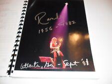 OZZY OSBOURNE RANDY RHOADS BLIZZARD OF OZ ITINERARY BOOK 1981 TOUR
