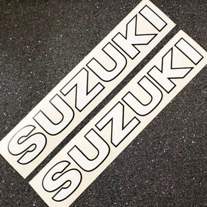 Suzuki TS 125 250 tank decals White Black vintage stickers graphics set 185