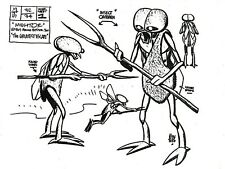 ALEX TOTH Production MIGHTOR Studio Copy INSECT Model Sheet Page Hanna-Barbera