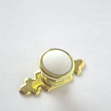 Möbelknopf Schrank Möbelgriffe Griff Küche Tür Möbel Knopf Gold-Weiss