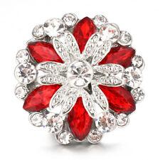 10pcs Crystal Alloy Charm Ginger Snap Button For Noosa Necklace/Bracelet N865