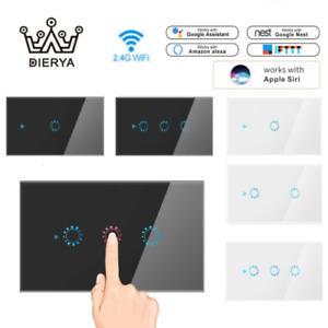 Dierya 4/5/6 Gang Smart WiFi Light Switch Touch Wall Home for Alexa Google Siri