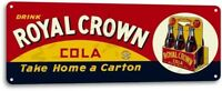 Royal Crown RC Cola Carton Soda Vintage Metal Decor Sign