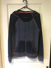 Tigerlily Hooded Jumper Sz 10 Euc Raw Edges