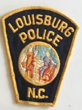 Obsolete Louisburg NC Police Patch Cheesecloth back 4-1/4 X 3-1/4 # 2470