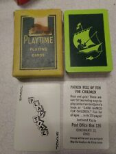 Vintage Miniature Playtime Playing Cards sail boat fishing USA card deck