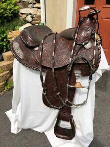 BILLY ROYAL Arabian Silver Lace Filigree Sterling Silver Saddle+Bridle Show Set