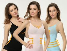 Munafie Tops Camisole Abdomen Fat Burning Clothes Clothing Vest Girdle(Black)
