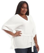 NEW Michael Kors plus size 2X Belted  Poncho sweater, retail $140