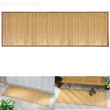 Bath Rugs InterDesign Bamboo Floor Runner 24 By 72 Inch Natural Outdoor Mat New