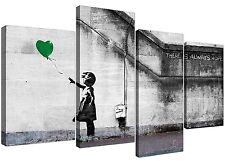 Canvas Pictures of Banksy Balloon Girl in Green for your Living Room