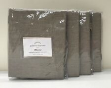 4 NEW Pottery Barn Sunbrella Palmetto Stacking Chair Seat Cushion Slipcover~ASH